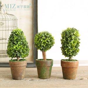 Miz 1 комплект 3 Боттон мини искусственное растение декор декоративное растение в горшке для гостиной домашнего офиса оптом и в розницу T200104