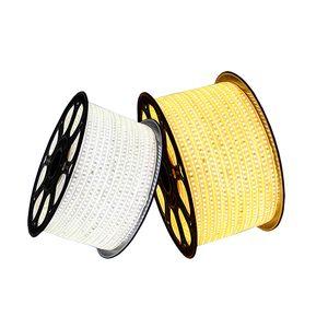 LED Light Strip SMD2835 110V 220V IP65 impermeabile 144LED / M Con Power conduttore in rame Spine alto lumen di alta qualità per la decorazione