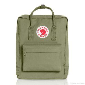 Дешевые Фьели Ревен kanken Холст рюкзак армия зеленых спортивных рюкзаки Студенты Водонепроницаемые Компьютерные рюкзаки Путешествие BackPac
