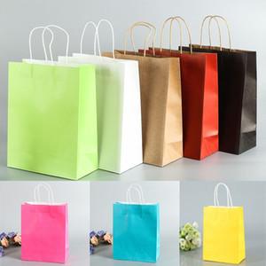 ودية كيس ورق الكرافت حقيبة هدية محمولة مع مقابض قابلة لإعادة التدوير متجر متجر التعبئة والتغليف حقيبة أكياس التسوق هدية التفاف XD19932