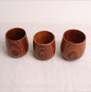 The latest 8 * 6.2 cm Japanese-style household tea set wooden cup solid wood cups sake cups restaurant cups A2027