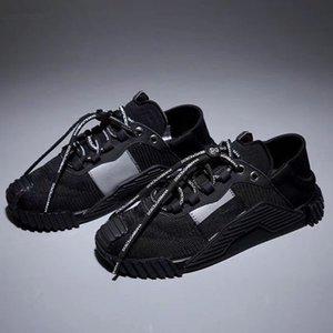 Diseñador de zapatos Hombres Mujeres Zapatos Casual manera de la plataforma DAYMASTER zapatillas de deporte de estiramiento-jersey zapato detrás de piel Zapatos Z01