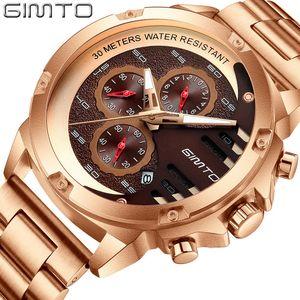 wholesale New Men's Watches Top Brand Luxury Quartz Watch Men Creative Gold Stainless Steel Waterproof Chronograph Relogio Masculino