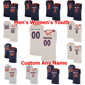 NCAA College Basketball Virginie Cavalier Maillots Austin Katstra Jersey Ralph Sampson Sam Hauser Barry Parkhill Casey Morsell personnalisé maille