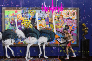 Angelo Accardi Cley VS STRUZZI Home Decor dipinto a mano HD Dipinti Stampa Olio Su Tela Wall Art Immagini 200515