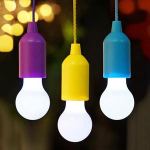 Quarto puxar Cord Livro luzes coloridas portátil Lâmpada LED luz de suspensão Lanterna lâmpada de leitura Para Outdoor Camping Closet Crianças Decoração