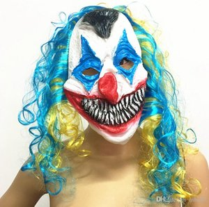 Scary Clown Mask Joker Adult and Kids Full Face Horror Funny Mask For Halloween Party Masquerade Costume Mask Supplies