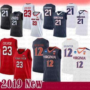 NCAA erkekler Gonzaga Bulldogs 21 Rui Hachimura Basketbol Jersey 23 Jarrett 23 Culver 35 Kevin Texas Tech Red Raider Durant Koleji