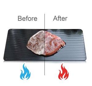 Hızlı Buz çözme Tepsi Alüminyum Levha Defrost Et veya Dondurulmuş Gıda Pişirme S M L BOYUT buzunun çözülmesi Plakalı Kurulu Defrost Mutfak ARAÇLARI KKA7846