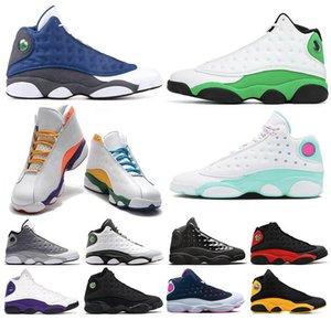 13 13s dos homens das mulheres Basketball Shoes sorte verde Flint Alternate Altitude Atmosfera Grey Cap Aurora e do vestido Chicago Bred Sneakers Desporto