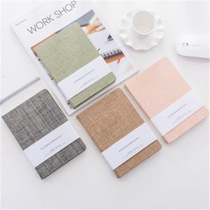 Couvercle en tissu Nombre de bloc-notes avec pages vierges Cahier de croquis 128sheets Notebooks de journal