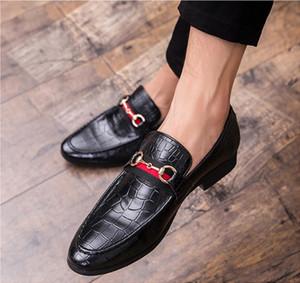 De punta estrecha vestido de cuero para hombre de los zapatos de boda de lujo de negocios del holgazán de la impresión floral de los hombres del partido de oficina Pisos zapatos formales para hombre mocasines Tamaño 47