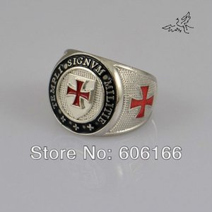 Signvm Militie Templi Knights Templar's Ring Cross Zinc Alloy Rings Fashion Catholic Religious Jewelry