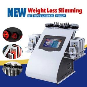 Lowest 2colors 6in1 40k liposuzione ad ultrasuoni cavitazione 8 pads LLLT lipo laser dimagrante macchina vuoto RF cura della pelle salone attrezzature spa