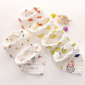 Muslin Baby Bibs Animal Infant Boy Bandanas Newborn Girl Smock Burp Cloth Cotton Feeding Saliva Towel 8 Layers 14 Designs Optional DW5336