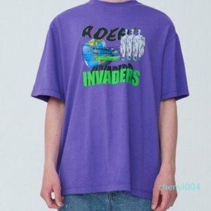 20SS Ader Err0r Logo SEMIOVERSIZED TOP Alien Printing Tshirts Fashion Cotton Tee Shorts Mens Women Couple Designer T-Shirts t01c04