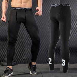 NOVITÀ 2019 Pro Tight Skinny da uomo fitness running compression Capris leggings collant da basket maschile Calcio Pantaloni da allenamento asciutti