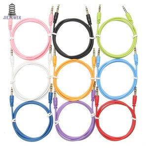Cable auxiliar macho a macho Cable de audio color Car Audio 3 5 mm Jack Plug Cable AUX para auriculares MP3 200 unids