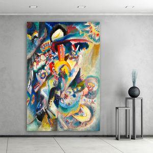 Wassily Kandinsky abstrakte Ölgemälde Moderne Wohnkultur Modular Bilder-Wand-Kunst Hd Leinwand Poster für Wohnzimmer