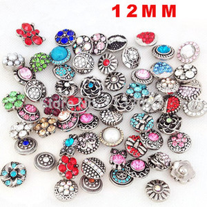 DHL Free Shipping 300pcs lot Noosa 12mm Snap Buttons High Quality Wholesale Mixed 12mm Snap Bracelets DIY Jewelry Accessories Snap Buttons