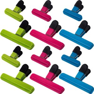 Plastic Bag Clips Set Large Chip Bag Clips Colorful Sealing Clips Clamps for Snack and Food Bags
