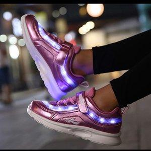PKSAQ niños llevó zapatillas de tenis para el bebé niño niñas luz a los varones luminosos zapatillas de deporte de los niños niñas zapatos brillantes USB