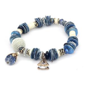 браслет роскошные дизайнерские украшения женские браслеты натуральный камень бисер очарование морские сериалы браслет ледяной браслет NE983-2
