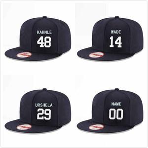 Пользовательские Нью-Йорк Бейсбол Snapback шляпы игрок Майк Форд 74 шанс Адамс 35 Брейвик Валера 36 Майк Таучман 39 Бретт Гарднер 11 Аарон судья 99 шапки