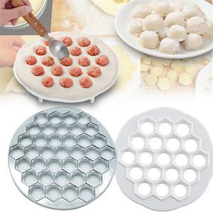 Bola de masa de molde 37 agujeros aleación de aluminio de 19 hoyos ABS DIY de masa hervida albóndigas fabricante de moldes de repostería herramientas de la cocina