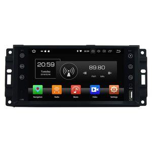 "1024 * 600 Octa Çekirdek 1 din 7 ""Android 8.0 Chrysler Sebring için Araba DVD GPS 300C Jeep Grand Cherokee Pusula Wrangler Journe 4 GB RAM 32 GB ROM"