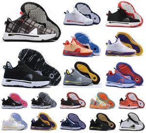 새로운 폴 조지 PG 4 개 4S PALMDALE IV P.GEORGE 농구 신발 저렴한 PG4 별이 빛나는 블루 오렌지 레드 블랙 스포츠 운동화 크기 40-46
