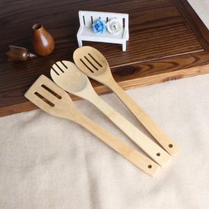 Bambuslöffel Spachtel 6 Styles tragbare hölzerne Utensilien der Küche kochende Turner geschlitzt Misch Halter Shovels EEA1395-5