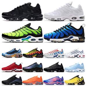 nike air max TN  além de tênis de corrida dos homens Branco preto Hiper Psychic azul deluxe formadores Óculos 3D respirável moda esportes tênis