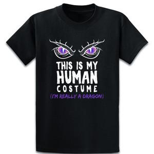 Este é meu traje Humano Im realmente um dragão camisetas cómico Anti-rugas Camiseta Homme O Neck personalizado Cool Shirt