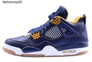 Sapatos Os 4s oficiais Basquetebol 4s sapatos azuis IV Kaws Mens Womens Esporte Zapatos MujerAthletic tênis com 6CKL1 tomada caixa