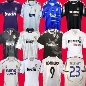 2010 11 12 Real Madrid Retro Soccer Jersey GUTI Ramos 13 14 15 RONALDO ZIDANE Beckham 2006 2007 RAUL Robinho 1999 2000 camiseta de Fútbol
