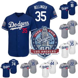 Los Angeles 35 Cody Bellinger Jersey 60th Anniversary Patch 18 Kenta Maeda 22 Clayton Kershaw 44 Rich Hill 74 Kenley Jansen Baseball Jerseys