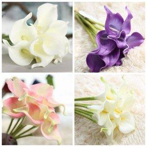 PU Fiore artificiale reale Touch Mini Calla Lily Flowers Hotel Calla Lily decorativo Bouquet per Wedding le decorazioni 13 colori XH1069