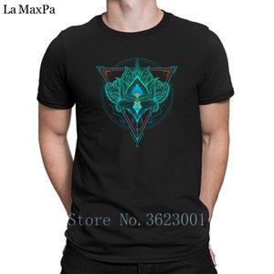 Özel Süper Tişört Lotus The Flower Of Life In Üçgen Erkekler T Shirt Fun İlkbahar Sonbahar Tişört Çılgın Trend S-3XL