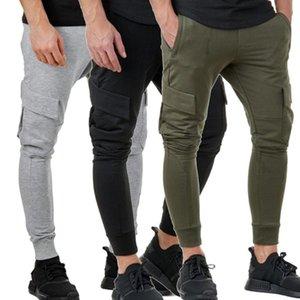 Nouveau Hommes Petits garçons Mode Pantalons solides Pantalons simple Slim Fit Joggers Hommes Pantalons Sport Fitness Pantalons fitness