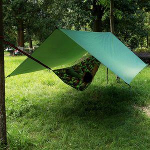 Wasserdichte Sun Shelter Markise Zelt Plane Gartenmöbel Camping Hängematte Regen Fliegen Anti UV Strand Zelt Schatten Camping Sonnenschirm Baldachin