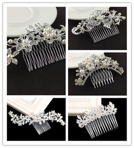 Bridal Wedding Tiaras Stunning Fine Comb Bridal Jewelry Accessories Crystal Pearl Hair Brush utterfly hairpin for bride YD0200