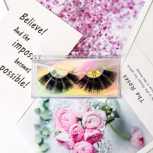 5D Mink Cílios Naturais Longos Cílios Postiços Macios Mink Lashes Macio Dramático cílios Eye Wispy Maquiagem Ferramentas de Extensão de Beleza HOT GGA2639