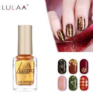 LULAA 6ml Stamping Nail Polish 12 Colors Stamp Nail DIY Stamping Lacquer for Christmas Art Painting Printing Varnish