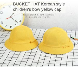 Children's kindergarten students yellow bucket bucket fisherman's hat cute sunscreen basin hat