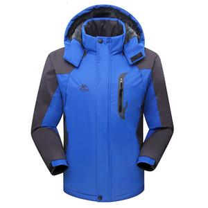 Şarj Giyim Man Kış Dış Mekan Kalınlaşma Dağcılık Rüzgar kesici Su geçirmez Sıcak Soğuk geçirmez pamuk dolgulu tutun Serve Aşağı arttır