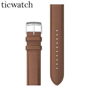 Cuoio originale Ticwatch cinturino e fibbia in acciaio inossidabile intelligente Guarda Accessori per Ticwatch 2 Wearable Devices 20 millimetri universale