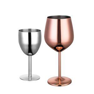 Rose Gold Farbe Champagner Glas 304 Edelstahl Cocktail Tassen Größe Rotwein Tasse Neue Ankunft 22zy2 L1