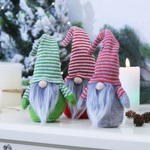 Merry Christmas Long Hat Swedish Santa Gnome Plush Doll Ornaments Handmade Elf Toy Holiday Home Party Decor