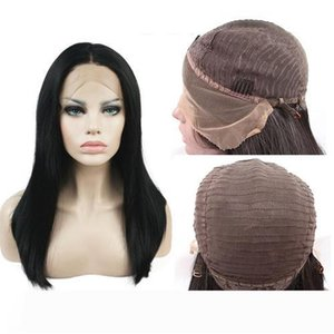 Top Remy Human Hair Straight Lace Front Wigs With Baby Hair Natural Color Noble Synthetic 8-26inch